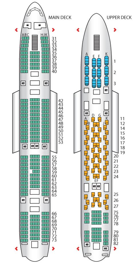 plan siege a380 seat plan for the airways a380 800 airplane