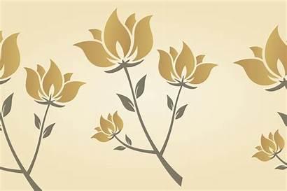Golden Flower Patterns Graphic