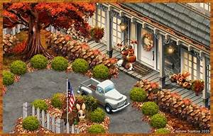 Fall Brick Colonial Home My YoVille / YoWorld Pinterest