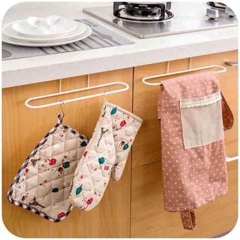 kitchen towel storage new cabinet cupboard door hanging towel rack holder 3379
