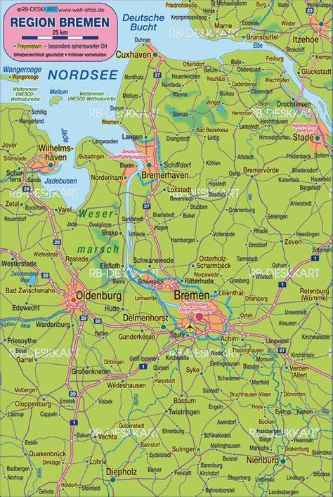 map  bremen environment region  germany