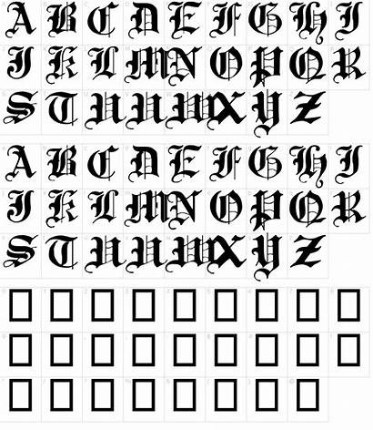 Gothic Font Traditional 17th Fonts Characters Character