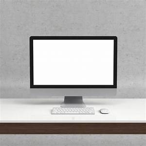 Realistic computer mock up PSD file | Free Download
