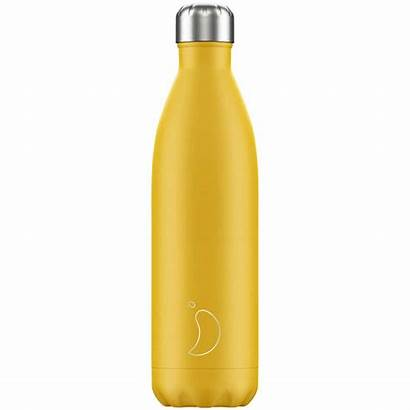 Bottle Water Yellow Chillys 750ml Burnt Matte