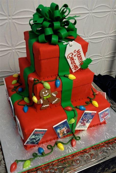 christmas gift box cake  lights cakecentralcom