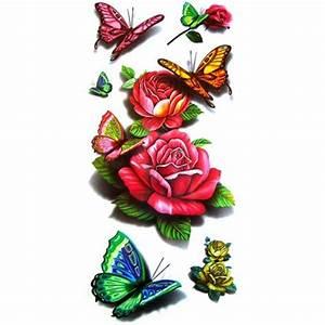 Rose En Tatouage : tatouage rose tatouage papillon tatouage ephemere rose ou papillon ~ Farleysfitness.com Idées de Décoration