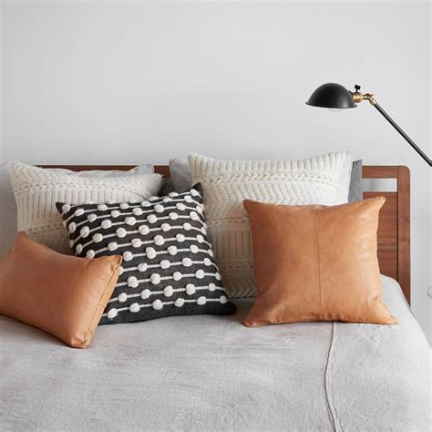 Throw Pillows On Leather by Cognac Leather Throw Pillow Ethically Crafted In