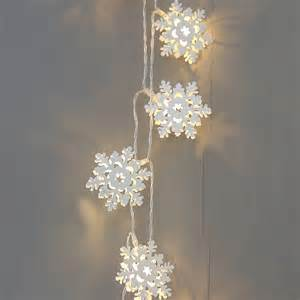 snowflake twinkling light garland by red lilly notonthehighstreet com