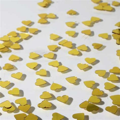 gold heart shaped confetti chartreuse heart shaped confetti