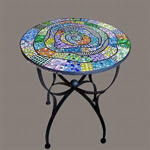Mosaik Selber Fliesen Auf Altem Tisch : runder bistrotisch 39 valpara so 39 f r den innen und au enbereich caf garten eisdiele ~ Watch28wear.com Haus und Dekorationen