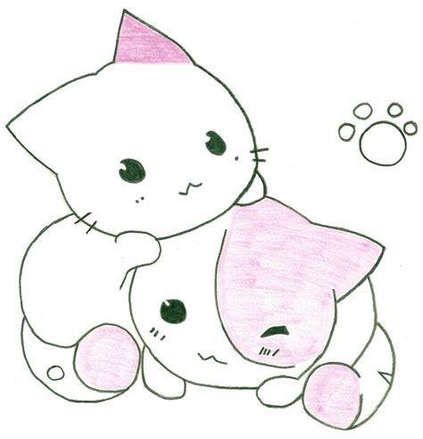 cute anime cat drawing cats  soooo cute  girl
