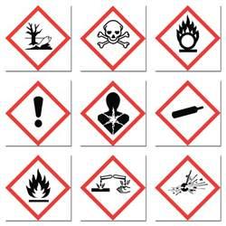 Chemical Hazard Label Symbols