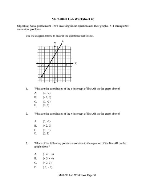 of linear function word problems worksheet