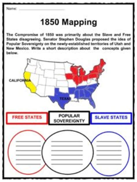 compromise of 1850 facts worksheets key events for