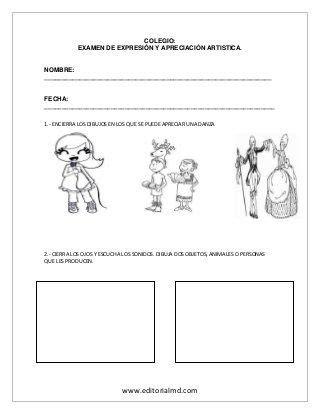 examen preescolar pre escolar words education