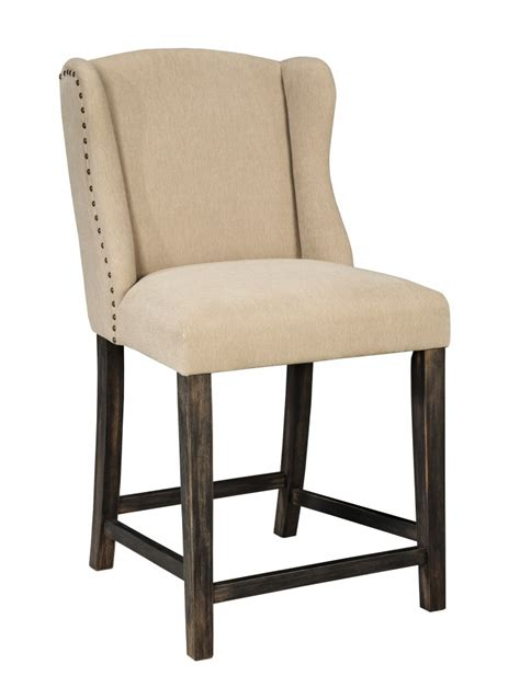 moriann light beige upholstered barstool set of 2