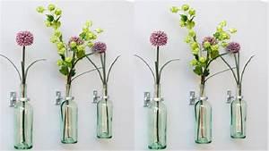 Diy Deco Murale : transformer des bouteilles de vin en vase et soliflore ~ Dode.kayakingforconservation.com Idées de Décoration