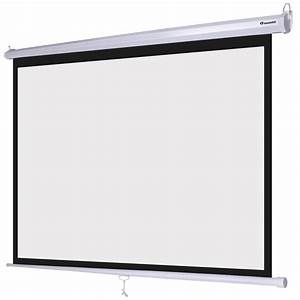 Instahibit U00ae 72 U0026quot  4 3 57 U0026quot  X 43 U0026quot  Manual Pull Down Projector