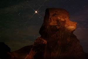 APOD: 2003 August 13 - Mars Rising Behind Poodle Rock