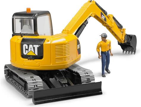 bruder excavator bruder 2466 cat mini excavator with worker 1 16