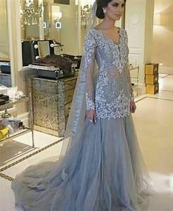 Pakistani Engagement Formal Dress Elan Inspired Silver
