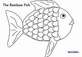 Coloring Trout Rainbow Pages Fish Printable Getcolorings Rainb sketch template