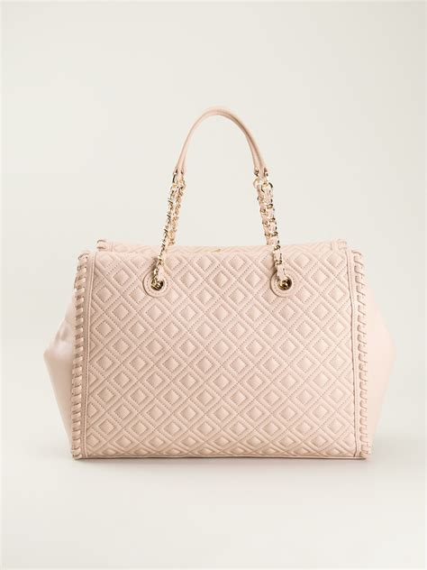 burch marion quilted slouchy tote burch marion quilted slouchy tote in pink lyst
