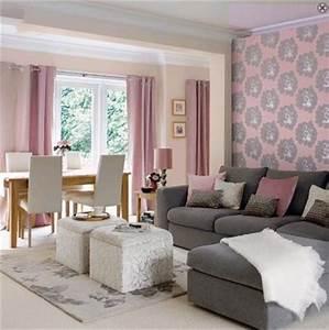 Salon Gris Et Rose : recommandations pour une d coration salon rose et gris ~ Preciouscoupons.com Idées de Décoration