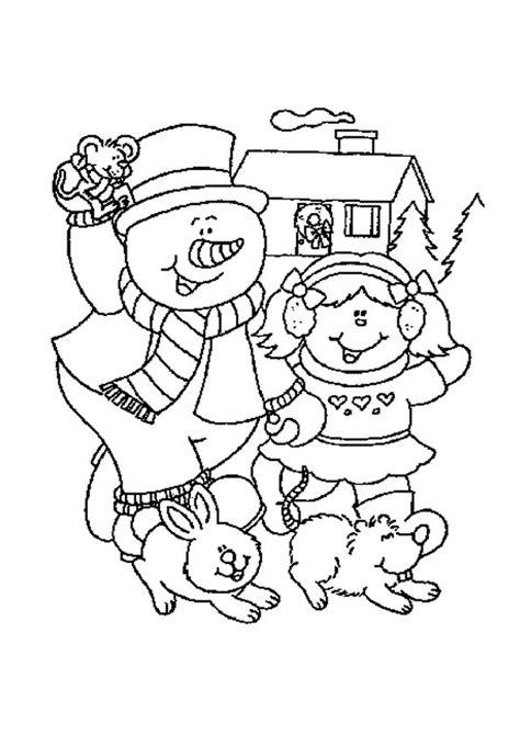 Kleurplaat Hoed Sneeuwman by Sneeuwpop Winter Kleurplaten Kleurplaten Sneeuwpop En
