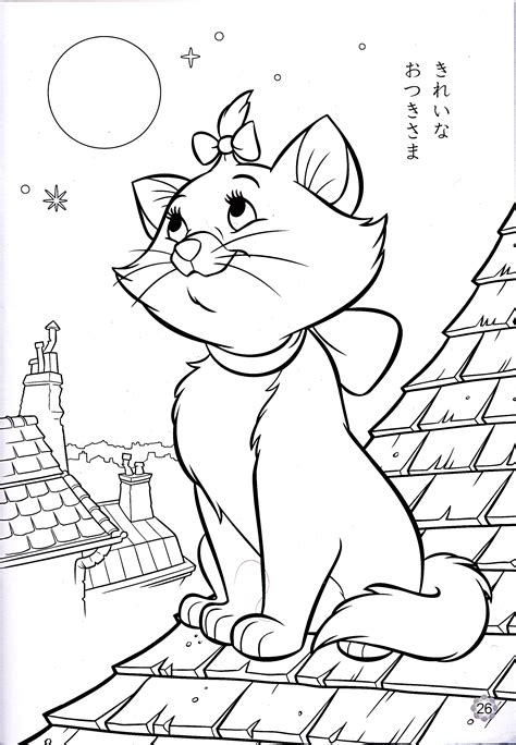 walt disney coloring pages marie walt disney