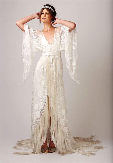 fringe wedding dresses  catch  eye weddingomania