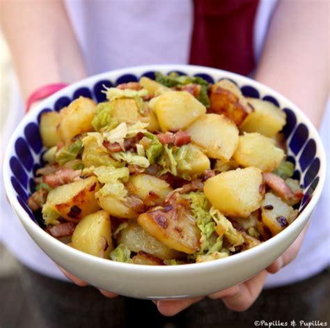 cuisiner le choux vert poêlée de pommes de terre sautées et chou vert recette