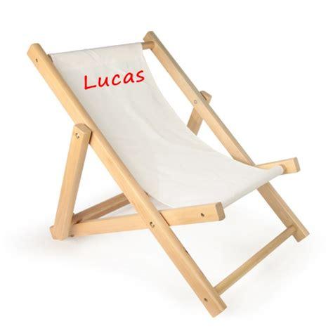 chaise personnalisée chaise longue personnalisée avec prénom enfant