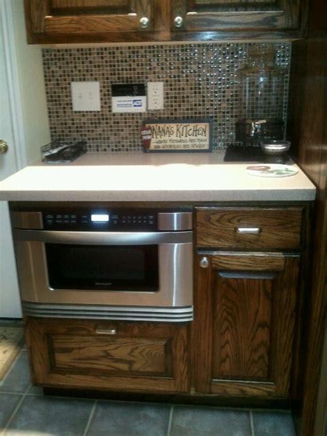kitchen sharp microwave drawer dream home pinterest pull out microwave drawer my dream kitchen 1 pinterest