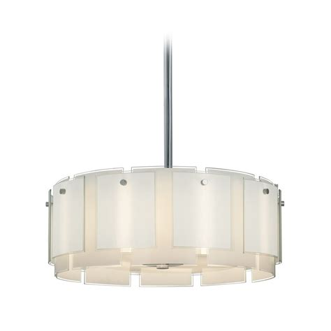 white drum pendant light drum pendant light with white glass in polished chrome