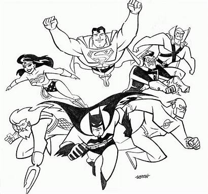 Justice League Coloring Printables Pages