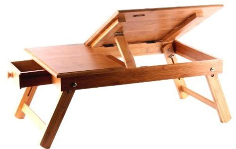 Pure Bamboo Laptop Computer Desk & Serving Bed Tray (with