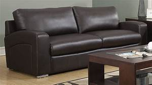 plush bonded leather and match sofa with removable back With sectional sofa removable back