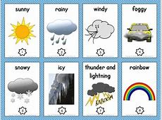 Weather Vocabulary Trading Cards and Word Wall by Mr