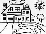 Coloring Houses Popular sketch template