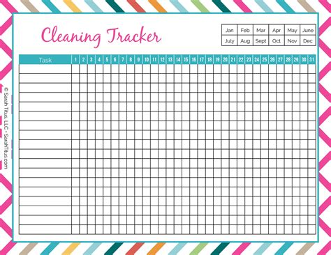 cleaning binder cleaning tracker sarah titus