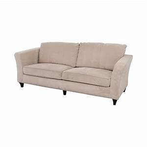 87 off coaster coaster contemporary beige sofa sofas for Used modern sectional sofa