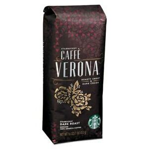 What's more mesmerizing is that the aroma of the coffee doubles the joy while drinking it. Starbucks Cafe Verona Dark Roast Whole Bean Coffee 1 LB, NEW 762111962959 | eBay