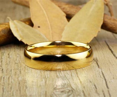 handmade gold dome plain matching wedding bands couple rings handmade gold dome plain matching wedding bands couple rings