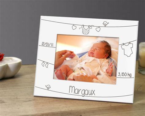 cadre photo m 233 tal blanc grav 233 naissance