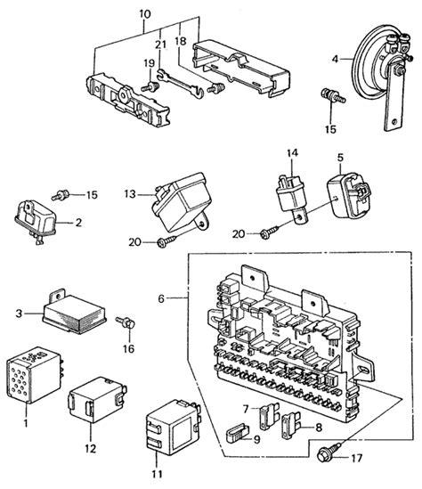 fuse box relay horn 82 83 1982 honda civic sedan parts 1500 manual genuine oem
