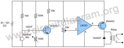 Sound Sensor Switch Using Lmn Circuit Diagram