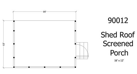 shed roof house project plan 90012 screened porch w shed roof