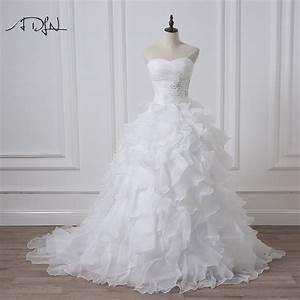 adln 2017 stock corset wedding dresses ivory white robe de With robe de mariée corset