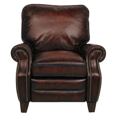 barcalounger briarwood ii leather recliner  nailheads